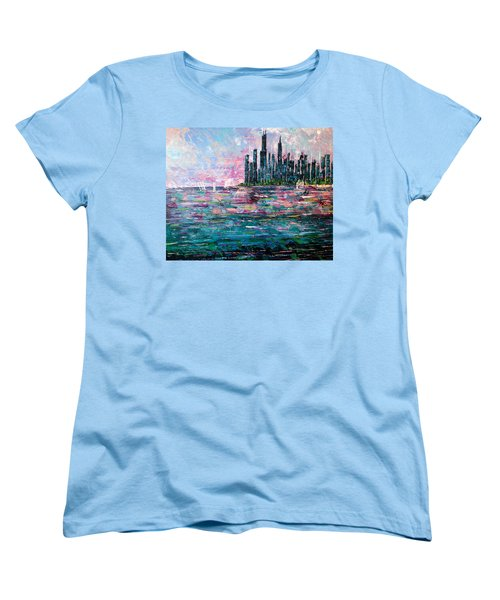 Chicago Morning - Sold Women's T-Shirt (Standard Cut) by George Riney