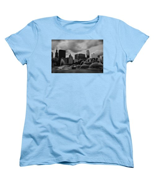 Women's T-Shirt (Standard Cut) featuring the photograph Chicago City Skyline by Miguel Winterpacht