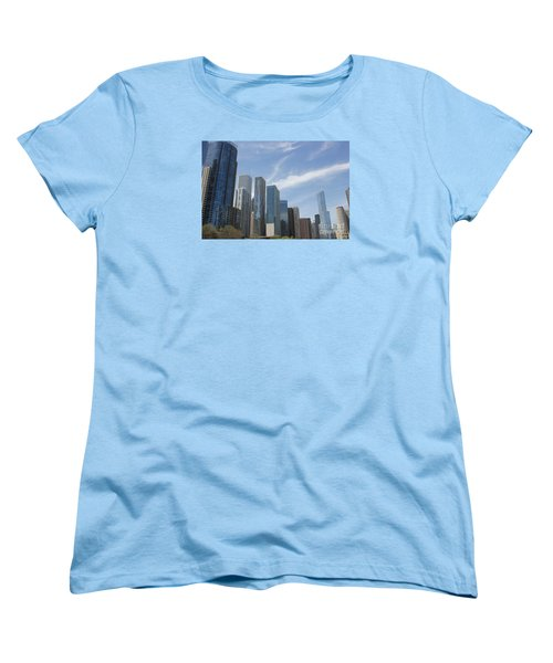 Chicago Skyscrapers Women's T-Shirt (Standard Cut) by The Art of Alice Terrill