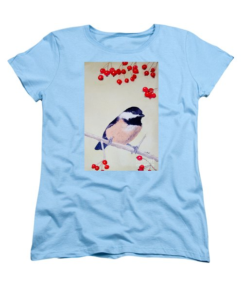 Chickadee Women's T-Shirt (Standard Cut) by Laurel Best