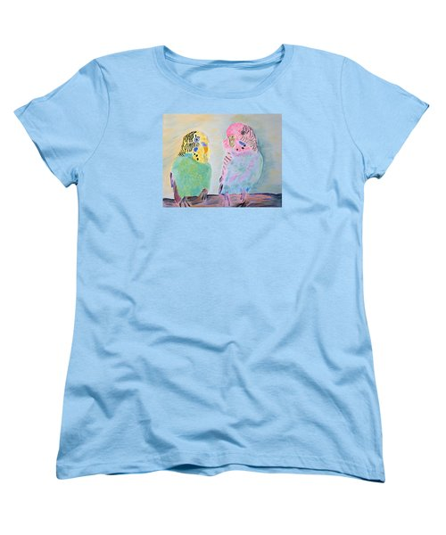 Childhood Parakeets Women's T-Shirt (Standard Cut) by Meryl Goudey