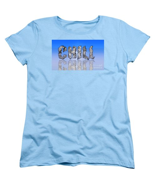 Women's T-Shirt (Standard Cut) featuring the digital art Chill Digital Art Prints by Valerie Garner