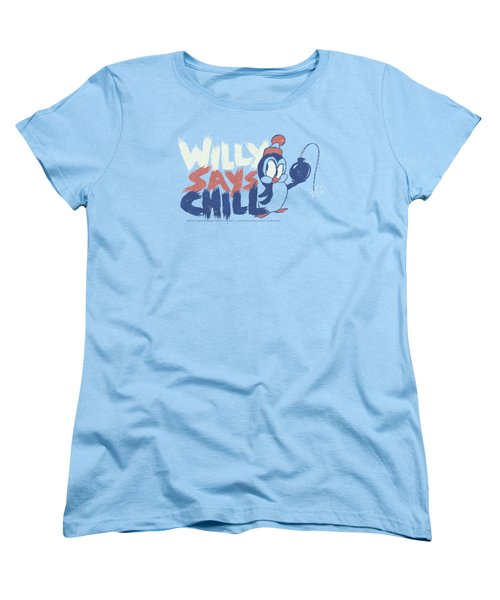 Chilly Willy - I Say Chill Women's T-Shirt (Standard Cut) by Brand A