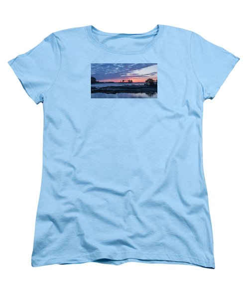 Chincoteague Wildlife Refuge Dawn Women's T-Shirt (Standard Cut) by Photographic Arts And Design Studio
