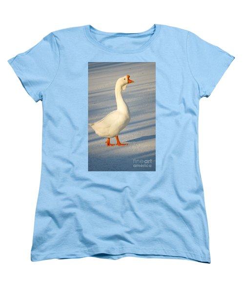 Chinese Goose Winter Women's T-Shirt (Standard Cut) by Susan Garren