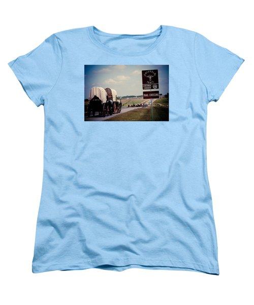 Chisholm Trail Centennial Cattle Drive Women's T-Shirt (Standard Cut) by Toni Hopper