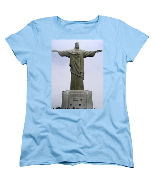 Christ The Redeemer Rio Women's T-Shirt (Standard Cut) by Jay Milo