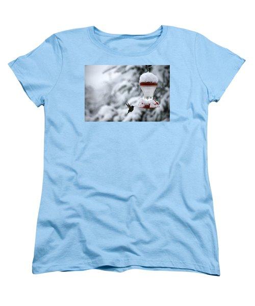 Christmas Hummingbird Women's T-Shirt (Standard Cut)