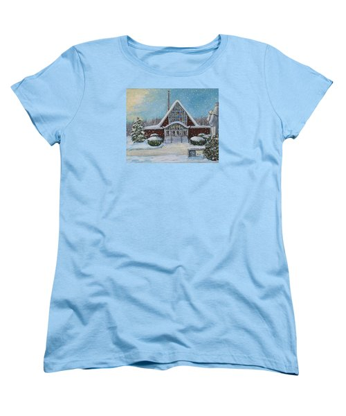 Christmas Morning At Our Lady's Church Women's T-Shirt (Standard Cut) by Rita Brown