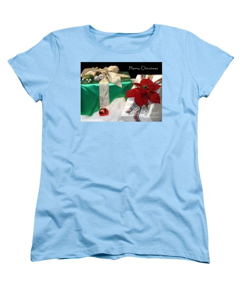 Christmas Presents Women's T-Shirt (Standard Cut) by Living Color Photography Lorraine Lynch