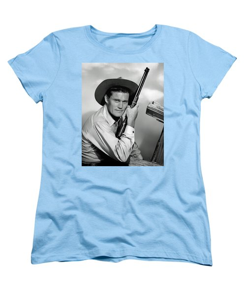 Chuck Connors - The Rifleman Women's T-Shirt (Standard Cut) by Mountain Dreams