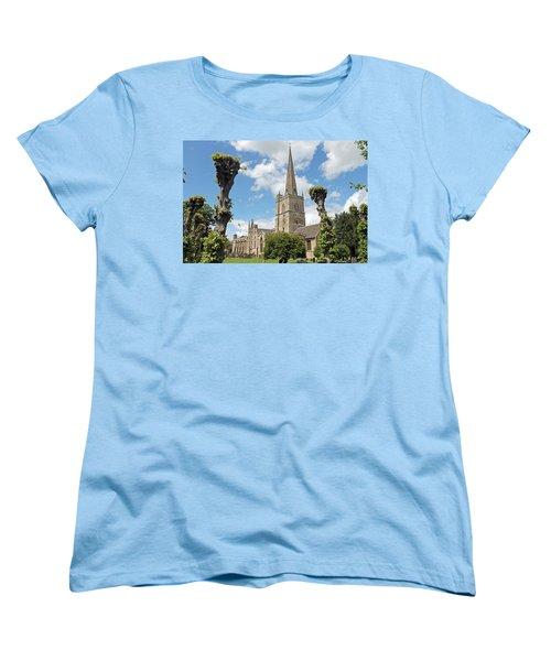 Church Of St John The Baptist Women's T-Shirt (Standard Cut) by Tony Murtagh