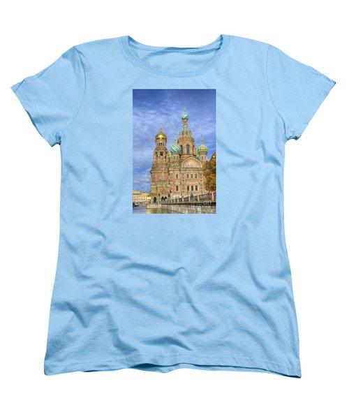 Church Of The Saviour On Spilled Blood. St. Petersburg. Russia Women's T-Shirt (Standard Cut) by Juli Scalzi