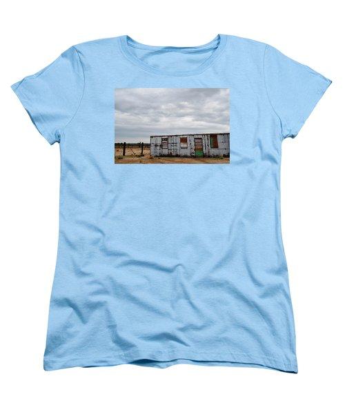 Cima Union Pacific Railroad Station Women's T-Shirt (Standard Cut) by Kyle Hanson