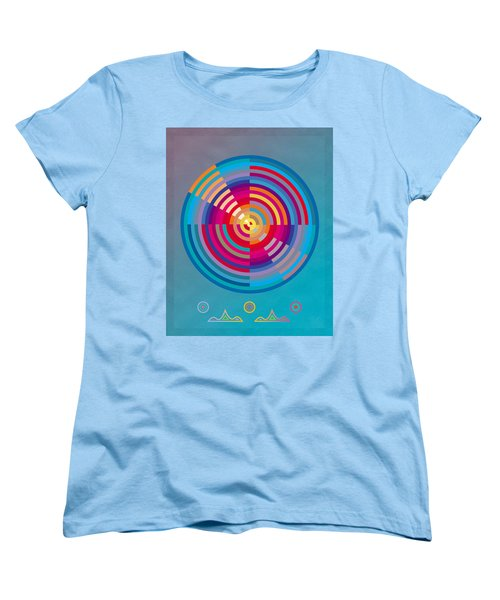 Circles Women's T-Shirt (Standard Cut) by David Klaboe