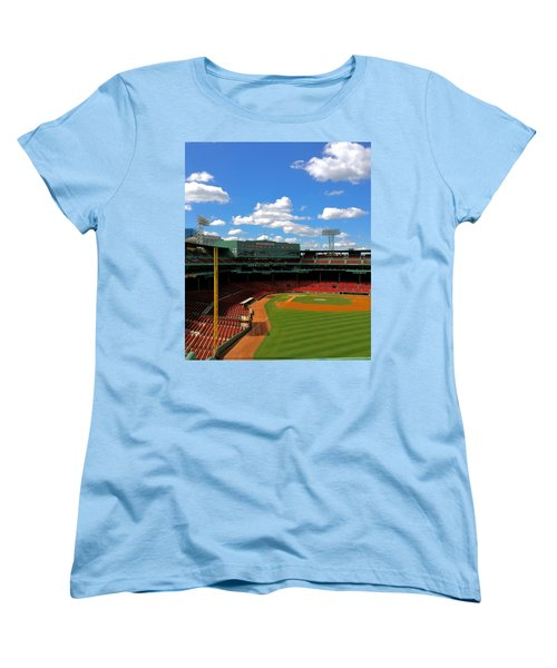 Women's T-Shirt (Standard Cut) featuring the photograph Classic Fenway I  Fenway Park by Iconic Images Art Gallery David Pucciarelli