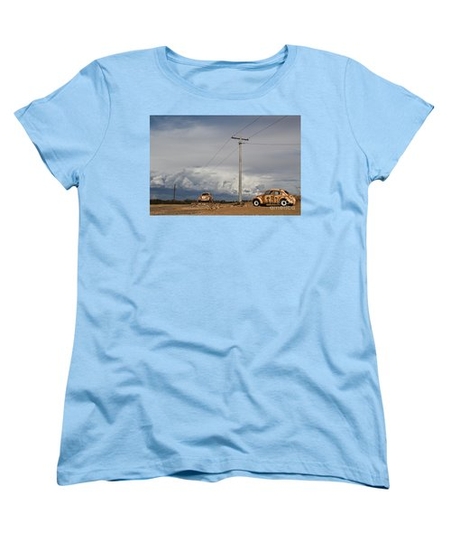 Women's T-Shirt (Standard Cut) featuring the photograph Classic Volkswagen Beetle by Lana Enderle