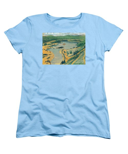 Women's T-Shirt (Standard Cut) featuring the painting Clearwater Lake Early Days by Kip DeVore