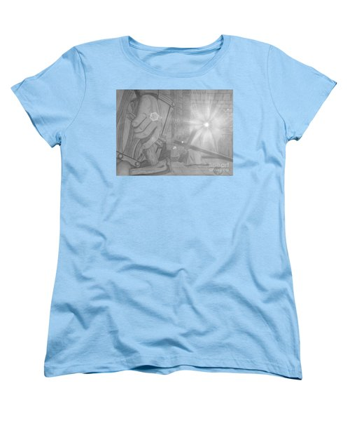 Clinging To The Cross Lights Women's T-Shirt (Standard Cut) by Justin Moore