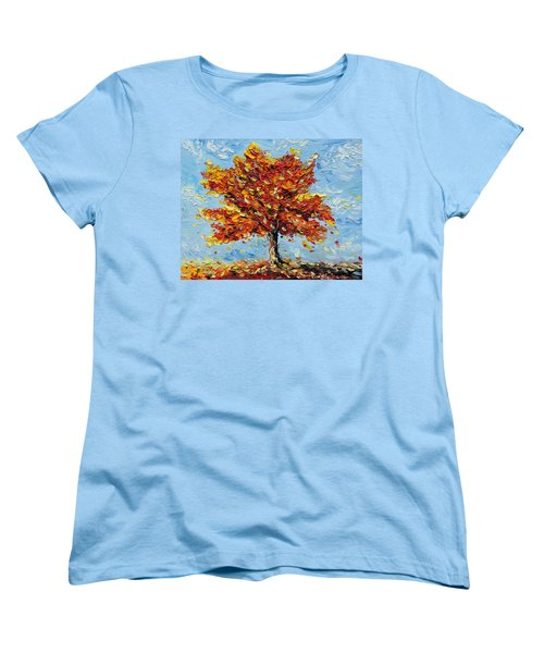 Women's T-Shirt (Standard Cut) featuring the painting Clothed With Joy by Meaghan Troup
