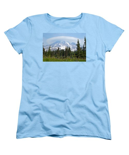 Cloud Capped Rainier Women's T-Shirt (Standard Cut) by Tikvah's Hope
