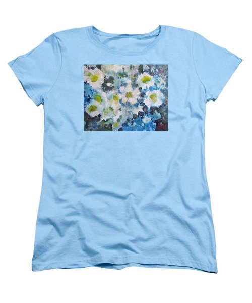 Cluster Of Daisies Women's T-Shirt (Standard Cut) by Richard James Digance