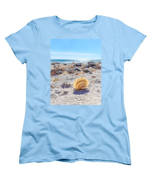 Women's T-Shirt (Standard Cut) featuring the photograph Cockle Shell Summer At Sanibel by Peta Thames
