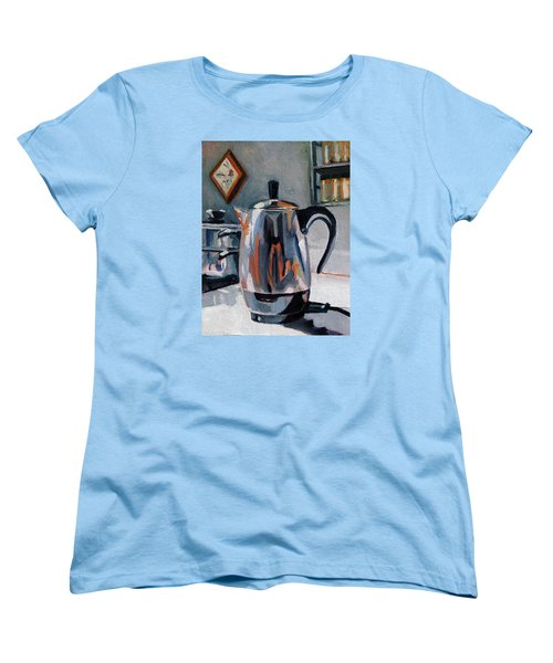 Women's T-Shirt (Standard Cut) featuring the painting Coffeepot by Pattie Wall