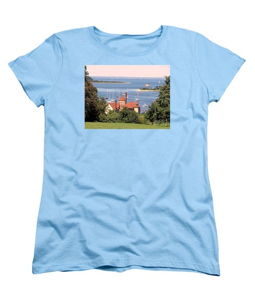 Women's T-Shirt (Standard Cut) featuring the photograph Coindre Hall Boathouse by Ed Weidman