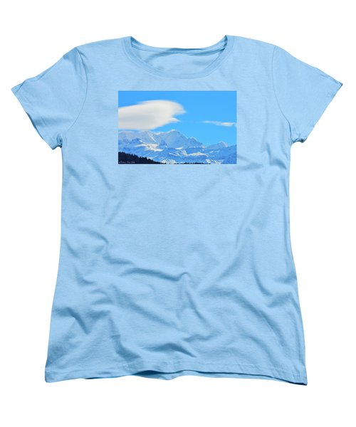 Cold And Sunny Alps Women's T-Shirt (Standard Cut) by Felicia Tica