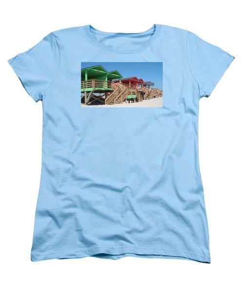 Colorful Cabanas Women's T-Shirt (Standard Cut) by Caryl J Bohn