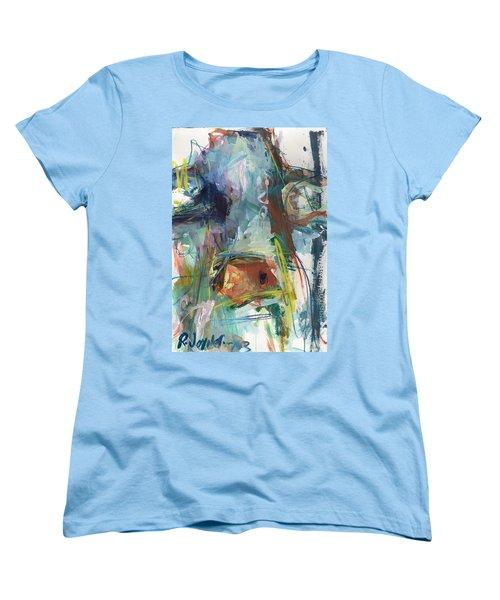 Colorful Cow Print Women's T-Shirt (Standard Cut) by Robert Joyner