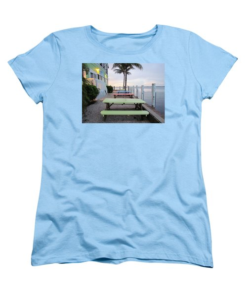 Women's T-Shirt (Standard Cut) featuring the photograph Colorful Tables by Cynthia Guinn