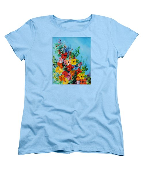 Women's T-Shirt (Standard Cut) featuring the painting Colour Of Spring by Teresa Wegrzyn