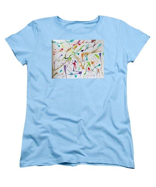 Colourful Holi Women's T-Shirt (Standard Cut) by Sonali Gangane