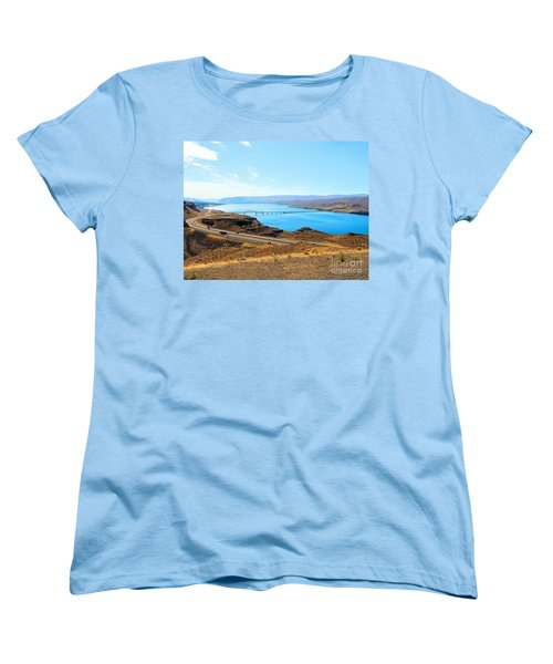 Columbia River From Overlook Women's T-Shirt (Standard Cut) by Janette Boyd