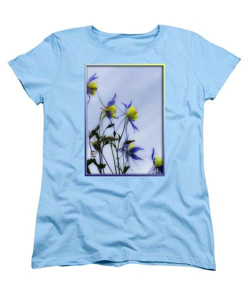 Women's T-Shirt (Standard Cut) featuring the photograph Columbines by Peter v Quenter