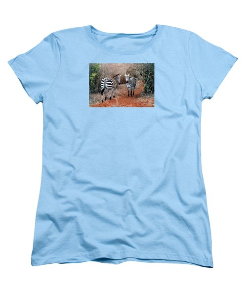 Women's T-Shirt (Standard Cut) featuring the photograph Coming And Going by Phyllis Kaltenbach