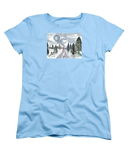 Women's T-Shirt (Standard Cut) featuring the painting Coming Home by Connie Valasco
