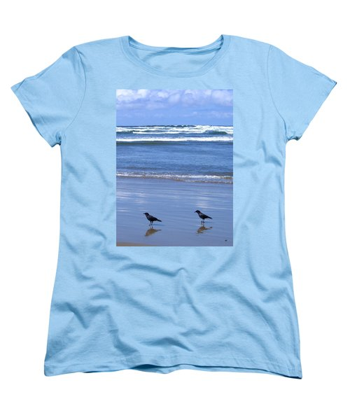 Companion Crows Women's T-Shirt (Standard Cut) by Will Borden