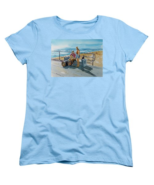 Concert In The Sun To An Audience Of One Women's T-Shirt (Standard Cut) by Debbie Lewis