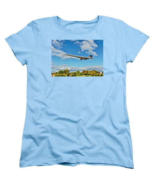 Concorde On Finals Women's T-Shirt (Standard Cut) by Paul Gulliver