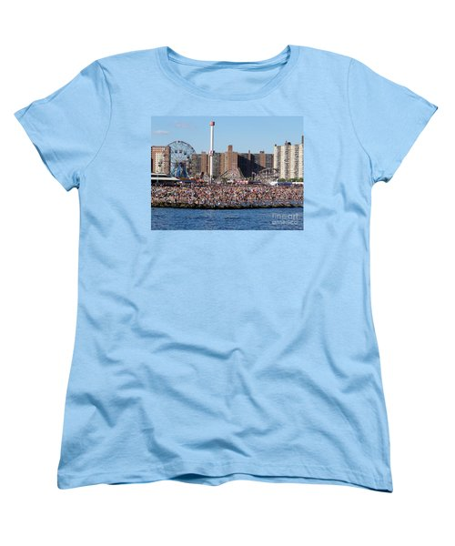 Women's T-Shirt (Standard Cut) featuring the photograph Coney Island by Ed Weidman