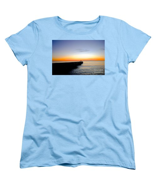 Contemplating The Meaning Of Life Women's T-Shirt (Standard Cut) by Margie Amberge