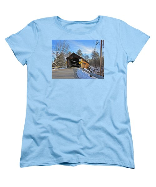 Coombs Covered Bridge Women's T-Shirt (Standard Cut) by MTBobbins Photography