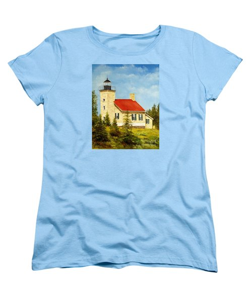 Copper Harbor Lighthouse Women's T-Shirt (Standard Cut) by Lee Piper