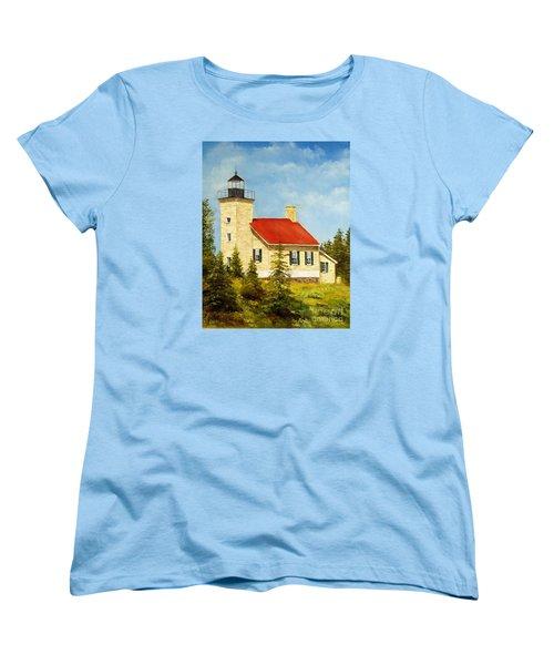 Copper Harbor Lighthouse Women's T-Shirt (Standard Cut)