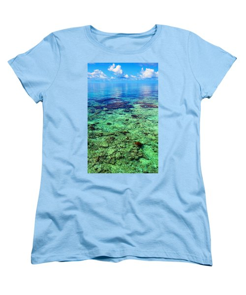 Coral Reef Near The Island At Peaceful Day. Maldives Women's T-Shirt (Standard Cut) by Jenny Rainbow