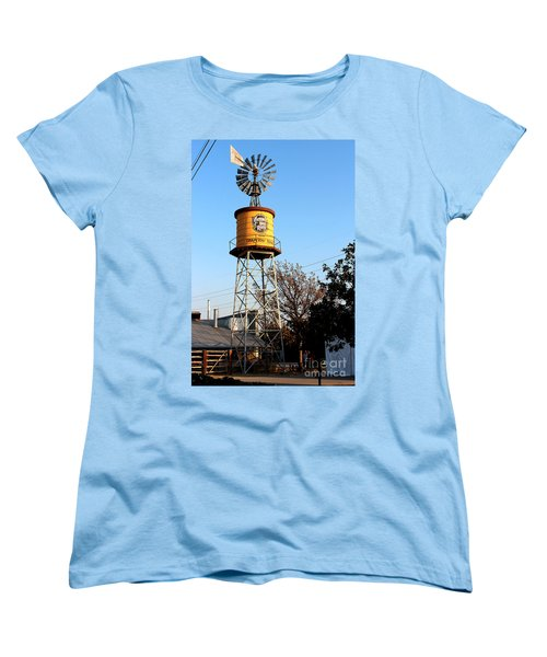Cotton Belt Route Water Tower In Grapevine Women's T-Shirt (Standard Cut) by Kathy  White