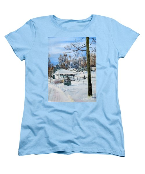 Country Club In Winter Women's T-Shirt (Standard Cut) by Christine Lathrop